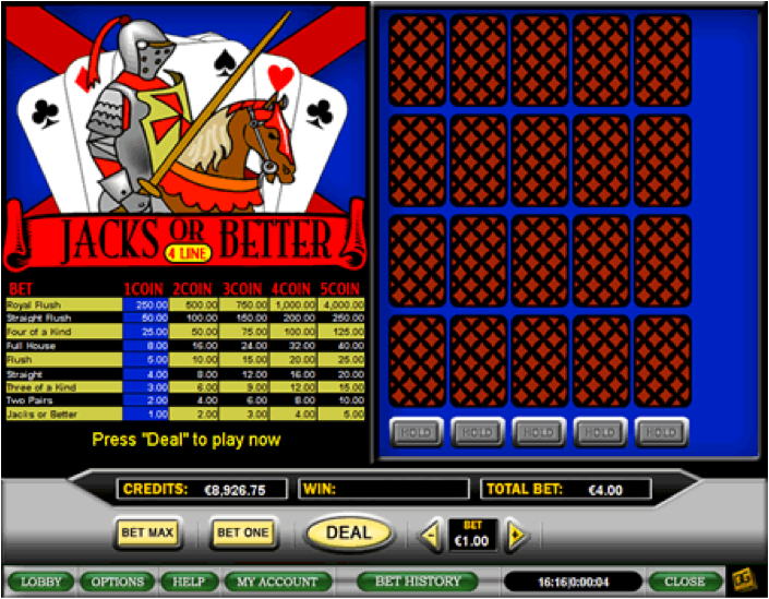 Play 50-Line Jacks or Better Video Poker at Casino.com Australia
