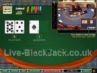 live baccarat at LuckyLiveCasino